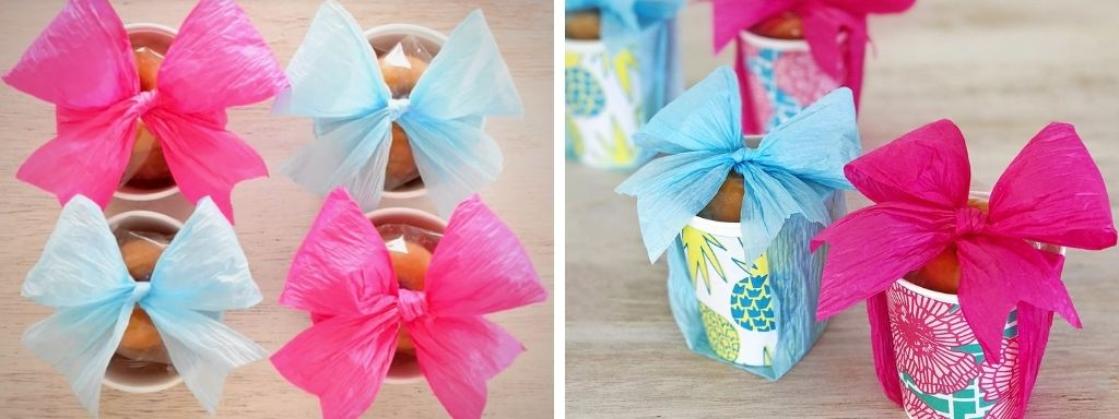 Takeaway Party Favors with Eco-Friendly Paper Ribbon Bows