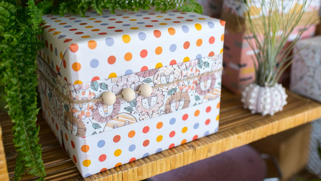 Creative Gift Wrapping Ideas for Kids - Wooden Beads