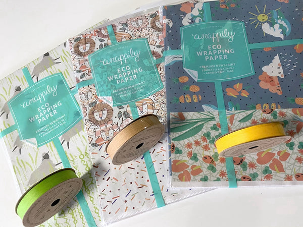 wrappily eco gift wrap and ribbons