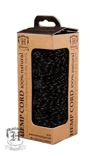 Black/ Gold Hemp Twine