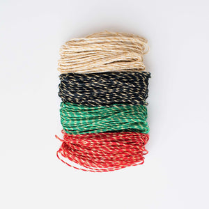 Holiday Sparkle Hemp Twine Quad