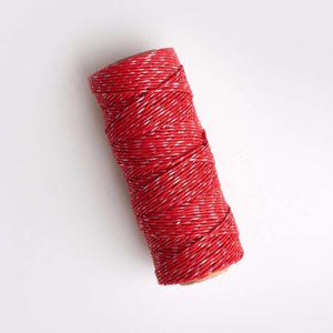 Red Sparkle Hemp Twine