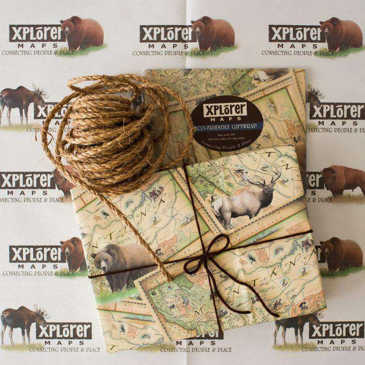 Xplorer Maps - Private Label Gift Wrap