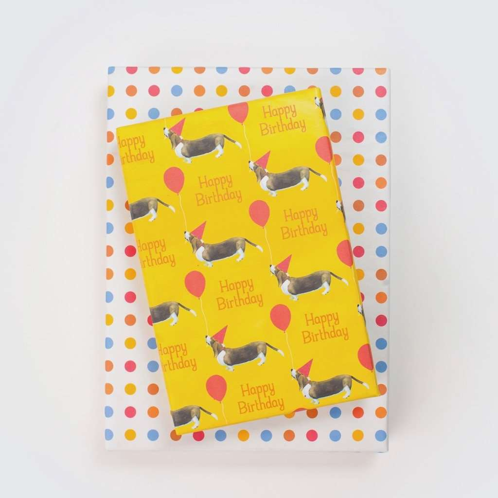 Basset Hound Polka Dot By Allport Editions
