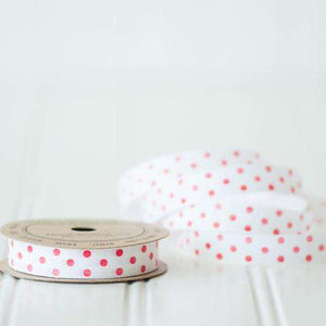 Red Polka Dot - Cotton Curling Ribbon
