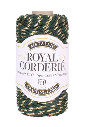 Hunter Green & Gold - Recycled Cotton Chunky Cord