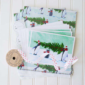 Gift Wrap Set: Penguin Tree by Allport Editions