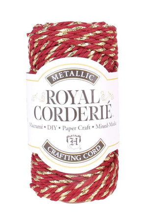 Brick Red & Gold - Recycled Cotton Chunky Cord