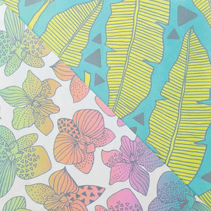 Jana Lam - Tropical Leaves/ Rainbow Orchids