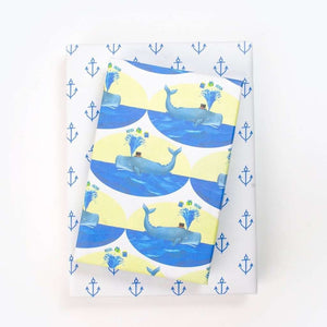 Whale/ Anchors By Allport Editions