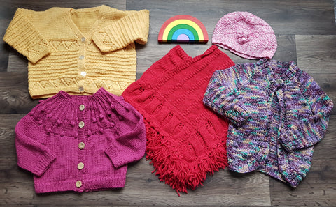 Handmade hand knitted children's clothes