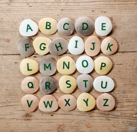 Uppercase Alphabet Pebbles / Stones