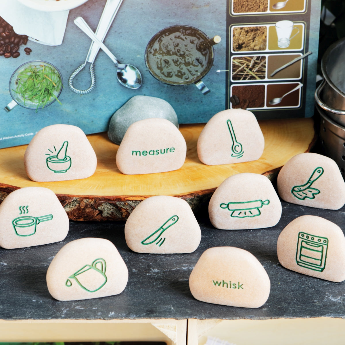 Mud Kitchen Process Stones