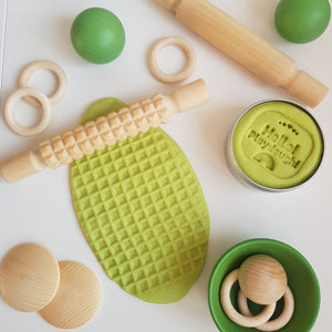 Green Apple Playdough - Hello! Playdough!