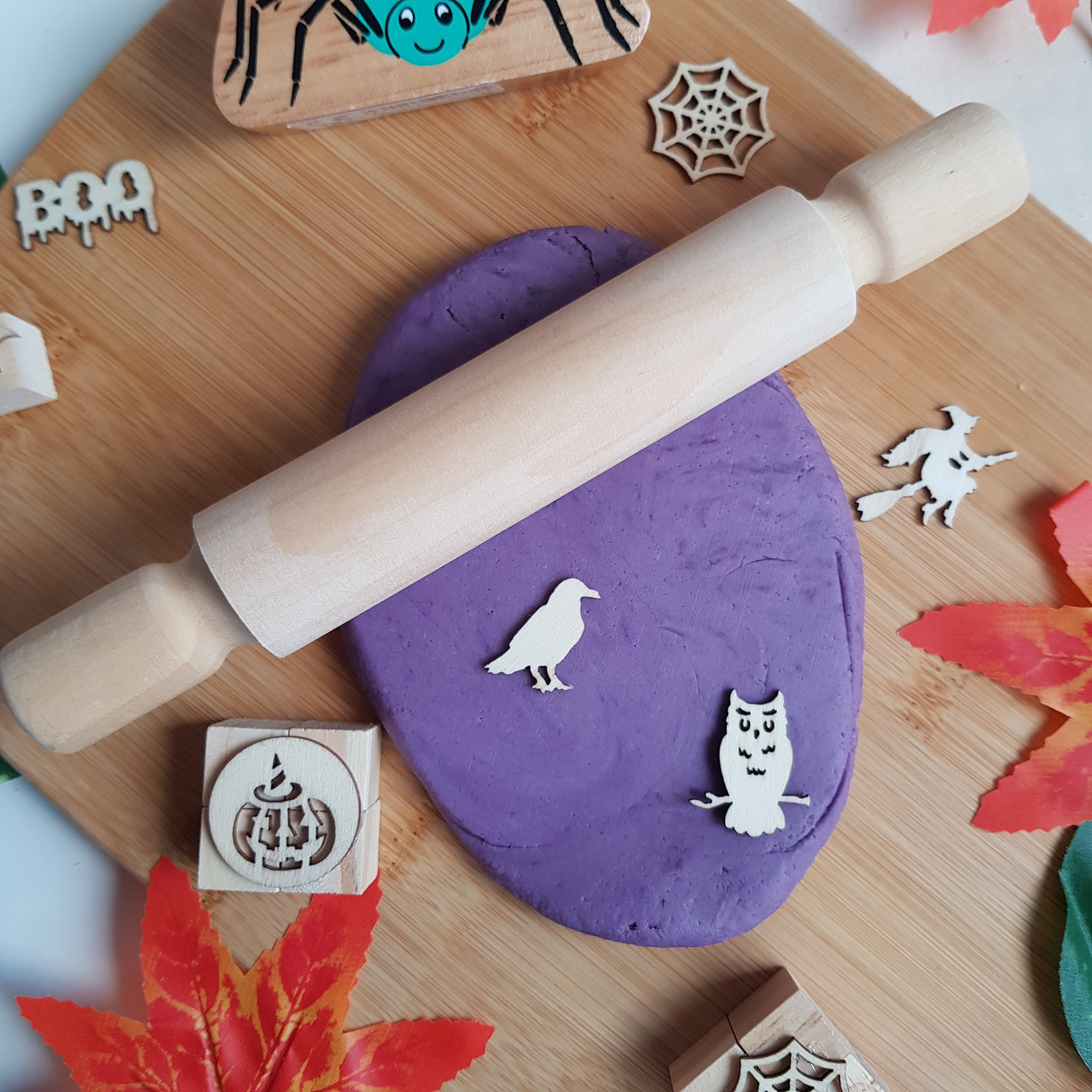 Hello! Playdough! Halloween Purple Plum Playdough