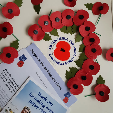 Poppy Appeal 1x Paper Poppy £5.00 Donation