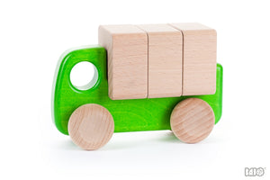Green Truck / Lorry with removeable blocks