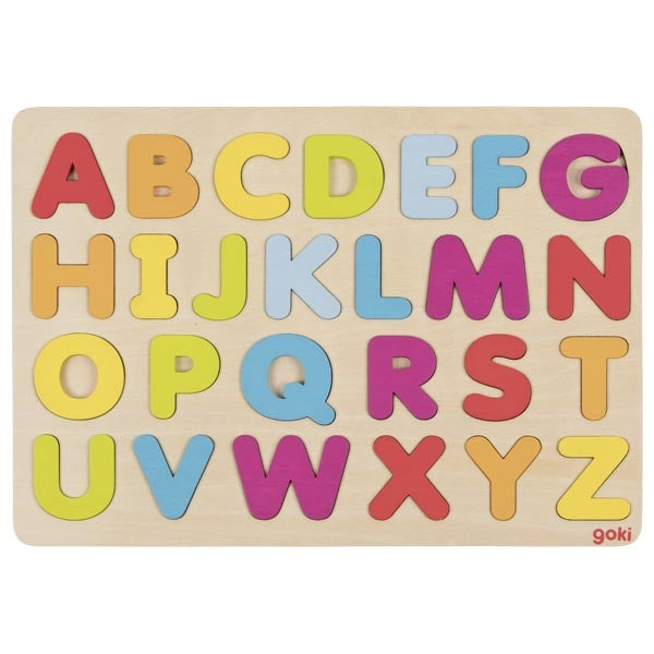 Alphabet Puzzle Rainbow Coloured