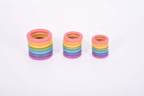 Rainbow Wooden Rings