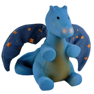 Midnight Dragon Rubber Baby Teether and Rattle Without Box