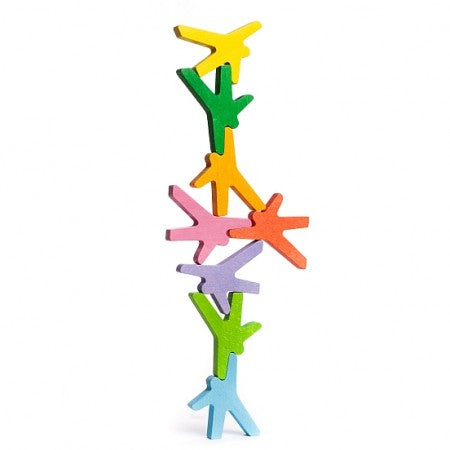 Acrobats 8 coloured stacking