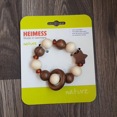 Star - Amber - Bead Ring Nature teething ring
