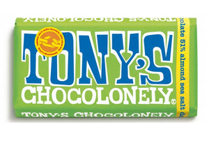 Tony's Dark Almond Sea Salt Vegan Green Bar