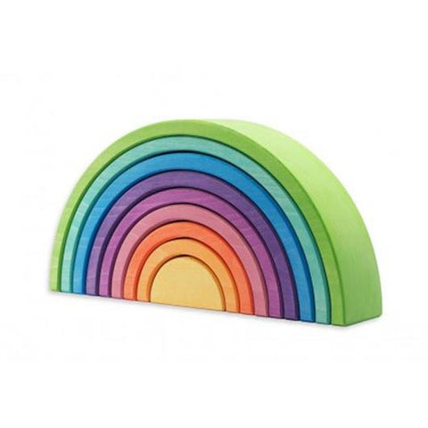 Ocamora 9 Piece Green Stacking Arch Rainbow
