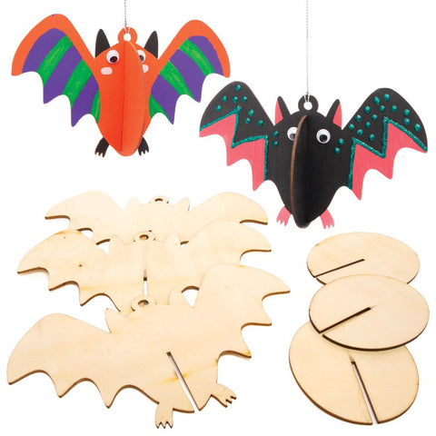Halloween Craft 3D Wooden Bat