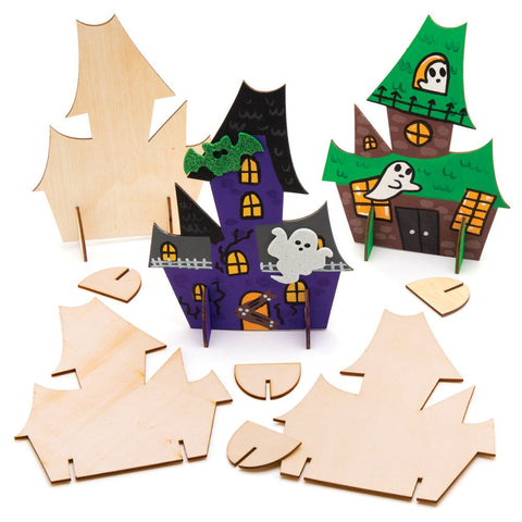 Halloween Craft 3D Wooden Haunted House