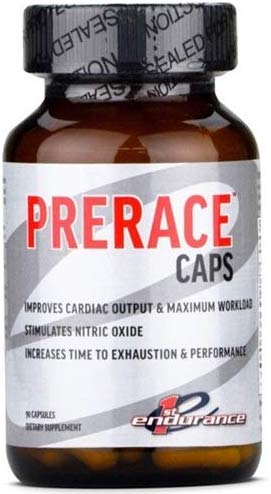 First Endurance PreRace Workout Supplement 98 Gram Powder / 90 Capsules
