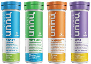 Nuun Complete Pack: Sport, Vitamins, Immunity, and Rest Hydration Drink Tablets, Mixed, 42 Count
