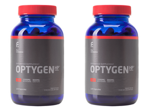 2021 OptygenHP Twin Pack | Optygen HP New and Improved by First Endurance With Free SportLegs 120ct Bottle