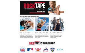 RockTape Original 2-Inch Water-Resistant Kinesiology Tape