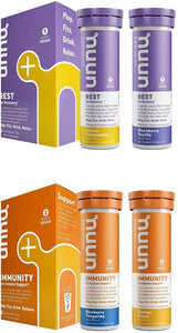NUUN Rest Plus Immunity Wellness Variety Pack of 4 (40 Servings Total) Recovery Sleep Bolster Immune System