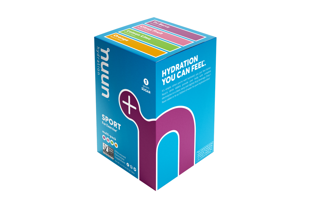 NUUN 3.0 Sport, Immunity, Rest, Electrolyte Tablets, Effervescent Hydration Supplement, Box of 4 or 8 Tubes (40/80 servings)