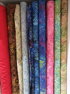 Autumnal Batik Fabric - Fabric Collection - Price Is Per Half Metre