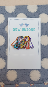 Bulb Stitch Markers - Rainbow - Set of 15
