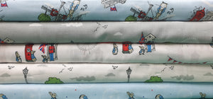 Peter Rabbit London - Fabric Collection - Price Is Per Half Meter