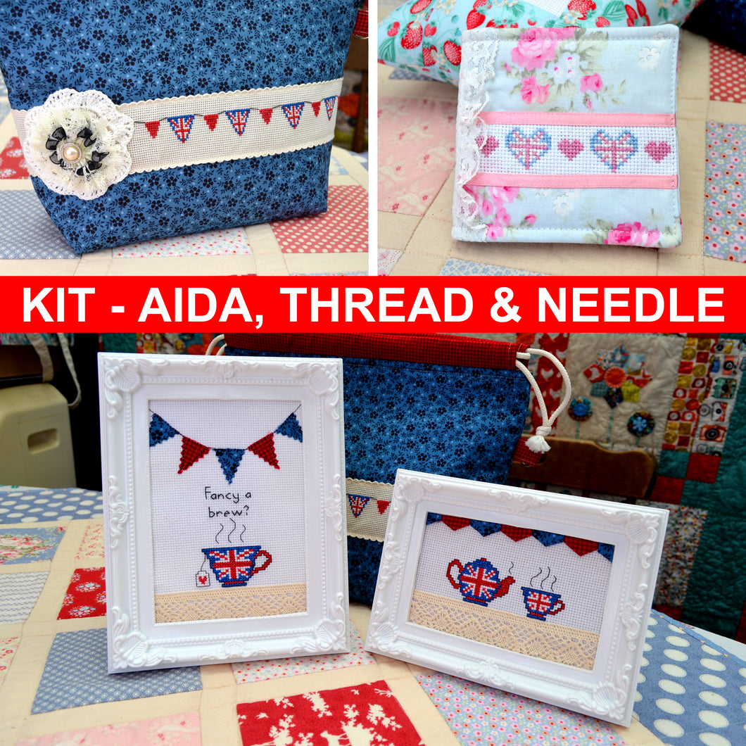 Union Jack Themed Cross Stitch Kit