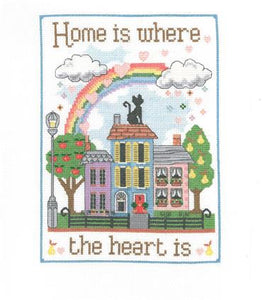 CSMP05 CROSS STITCH KIT WHERE THE HEART IS SAMPLER