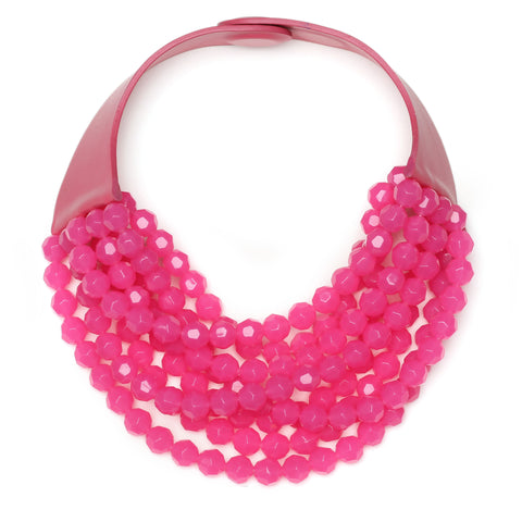 Bright Pink Bella Necklace