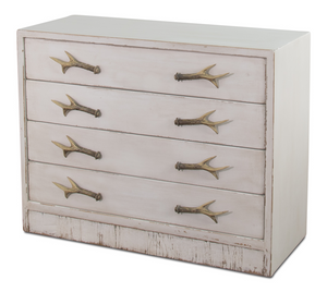 White Antler Chest