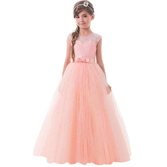 a3c92a3a463 Little Princess Lace Dress For Girl Clothes Girl Children Party Dresses  Teenager Evening Wear Prom Wedding
