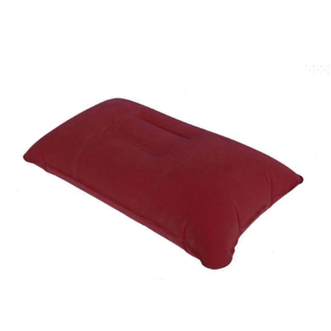 1PC Portable Folding Air Inflatable Pillow Outdoor Camping  Double Sided Flocking Cushion for Nap Sleep Picnic Travel tools