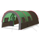 Big Space Tunnel Camouflage Tent Folding Camping Party Tent Portable Family Tent Beach Hiking Equipment Rainproof Tourist Tents