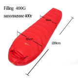 Fill 400G 600G 800G WINGACE ultralight duck down camping outdoor tourists waterproof mummy fall Travel sleep adult sleeping bags