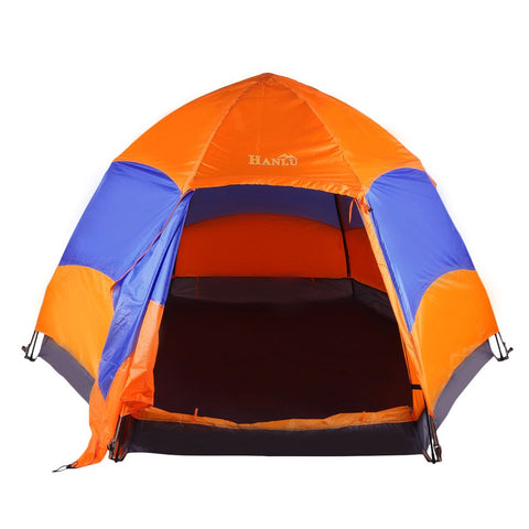 Six Corners 5-8 Person Automatic Tents Sunshade Summer Camping Garden Fishing Beach Picnic Rainproof Shelter Tent For Family