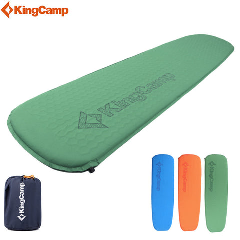 KingCamp Deluxe Camping Pad Ultralight Sleeping Pad Compatible Self-Inflating Camping Mats for Backpacking Hiking Trekking