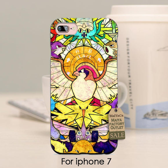 Pokemon Stained-Glass iPhone Case (SE/5/5S/6/6S/7 and Plus versions)